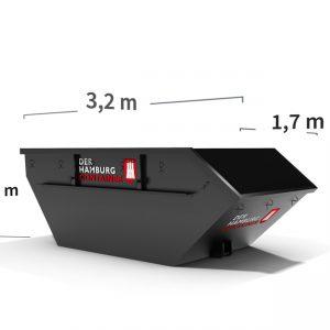 mieten Sie einen 5 m³ Container für Bauschutt