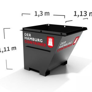 1 kubikmeter Container für Ihren Baustellenabfall mieten