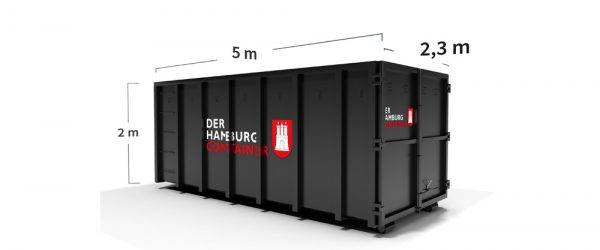 24 m³ Container Abfall entsorgen