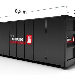 Maße 36 Kubikmeter Container