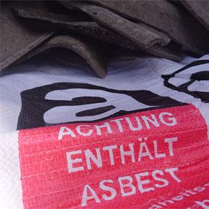 Asbest fachgerecht entsorgen