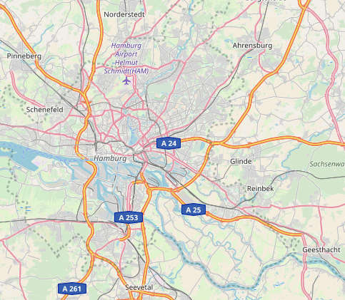 Einzugsgebiet des hamburger Containerdienst DER HAMBURG CONTAINER