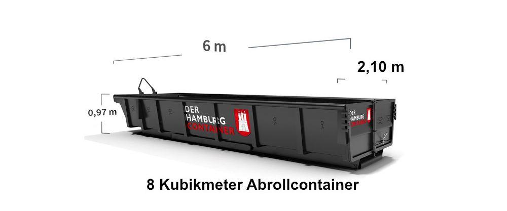 8 m³ Abrollcontainer online mieten